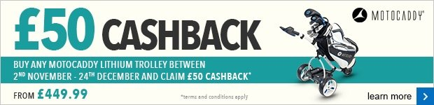 Motocaddy £50 cashback Christmas campaign